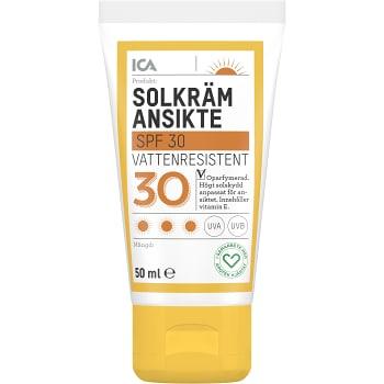 Solkräm Ansikte SPF30 50ml ICA Hjärtat