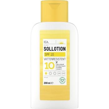 Sollotion SPF10 ICA Hjärtat