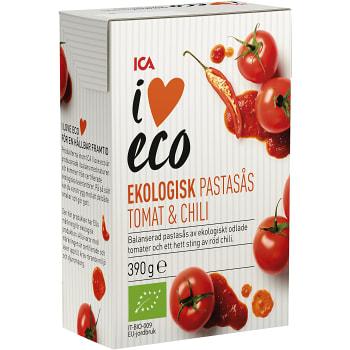 Pastasås tomat chili Ekologisk 390g ICA I love eco