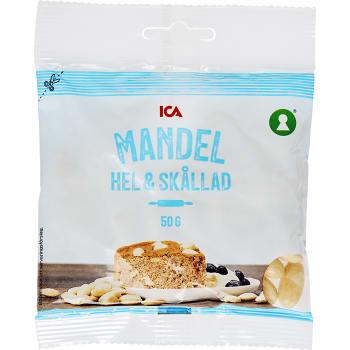 Mandel Hel Skållad 50g ICA