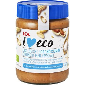 Jordnötssmör Crunchy med havssalt 350g KRAV ICA I love eco
