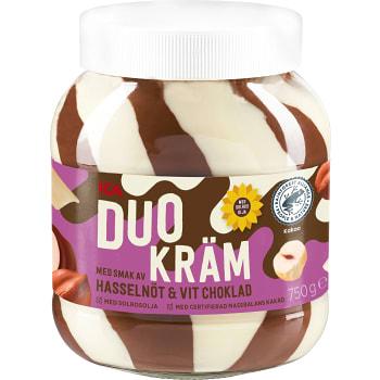 Duokräm hasselnöt & vit choklad 750g ICA