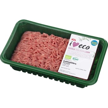 Lammfärs 15% 500g KRAV ICA I love eco
