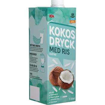 Kokosdryck med ris Laktosfri mjölkfri 1l ICA