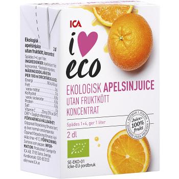 Apelsinjuice koncentrat Ekologisk 2dl ICA I love eco