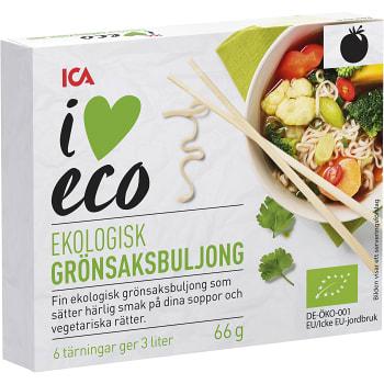 Grönsaksbuljong Ekologisk 6-p 66g ICA I love eco