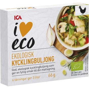 Kycklingbuljong Ekologisk 6-p 66g ICA I love eco