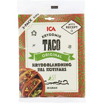 Kryddmix Taco Mild 28g 3-p ICA