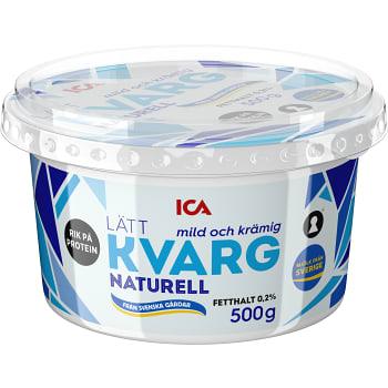 Lättkvarg Naturell 0,2% 500g ICA