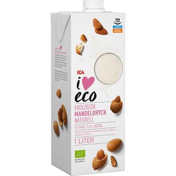 Mandeldryck Ekologisk 1l ICA I love eco