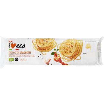 Pasta Spaghetti Ekologisk 500g ICA I love eco
