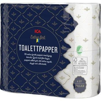 Toalettpapper Extra fint 4-p Miljömärkt ICA