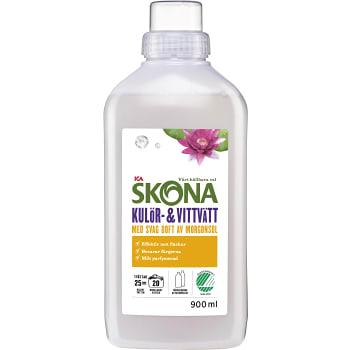 Tvättmedel Kulör- & vittvätt Milt parfymerat 900ml ICA Skona