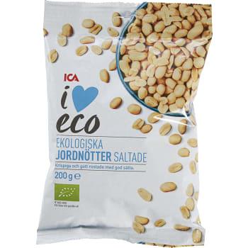 Jordnötter saltade Ekologisk 200g ICA I love eco