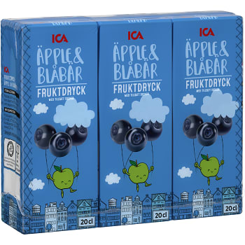 Fruktdryck Äpple & Blåbär 3-p 60cl ICA