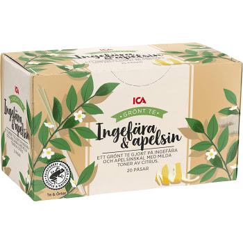 Te Grönt Ingefära & apelsin 20-p ICA