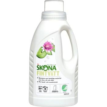 Tvättmedel Fintvätt Milt parfymerat Flytande 500ml Miljömärkt ICA Skona