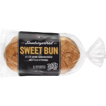 Hamburgerbröd Sweet bun 4-p 280g ICA Selection