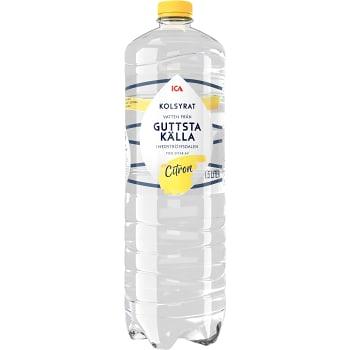 Vatten Kolsyrad Citron 1,5l ICA