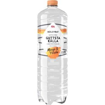 Vatten Kolsyrad Mango & persika 1,5l ICA