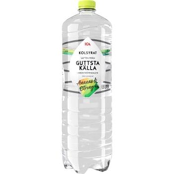 Vatten Kolsyrad Ananas & citron 1,5l ICA