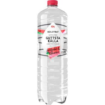 Vatten Kolsyrad Jordgubb Rabarber 150cl ICA