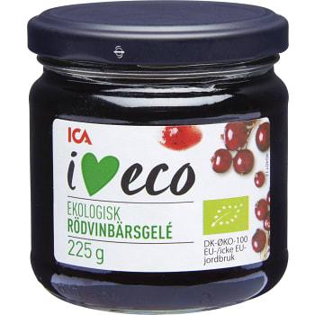 Gelé Rödvinbär Ekologisk 225g ICA I love eco