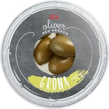 Tapas Gröna oliver 110g ICA