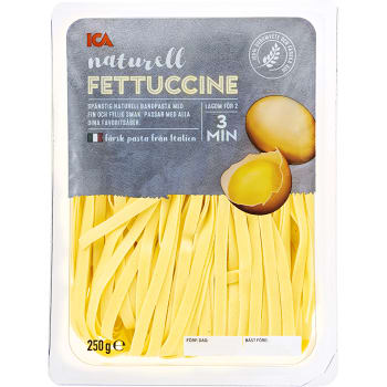 Pasta Fettuccine Naturell Färsk 250g ICA