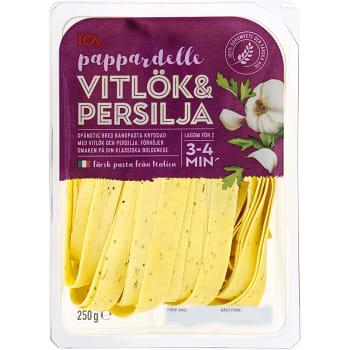 Pasta Pappardelle Vitlök & persilja Färsk 250g ICA