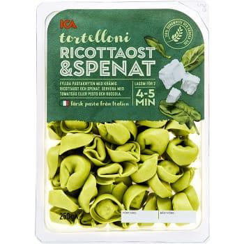 Pasta Tortelloni Ricotta & spenat Färsk 250g ICA