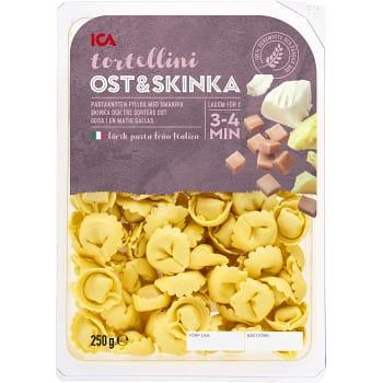 Tortellini Ost & skinka Färsk 250g ICA
