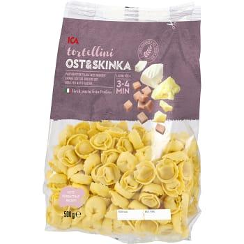 Pasta Tortelloni Ost & skinka Färsk 500g ICA