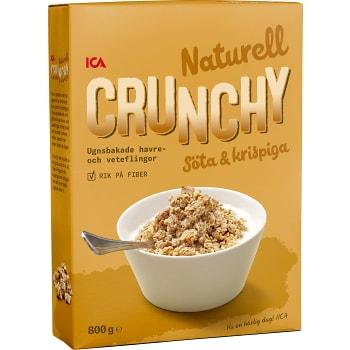 Flingor Crunchy Naturell Mindre socker 800g ICA