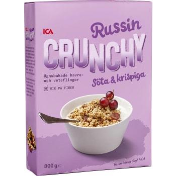 Flingor Crunchy Russin Mindre socker 800g ICA