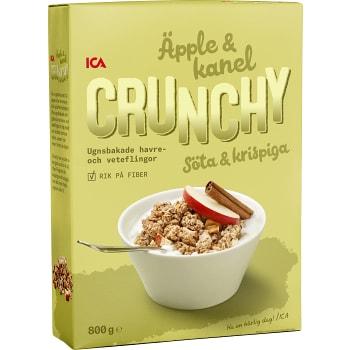 Flingor Crunchy Äpple & kanel Mindre socker 800g ICA