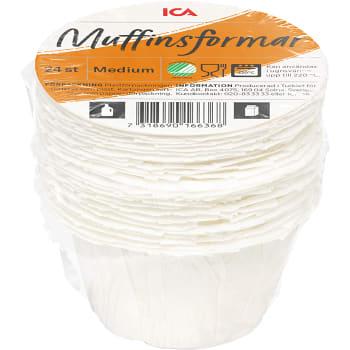 Muffinsformar Amerikanska 24-p Miljömärkt ICA