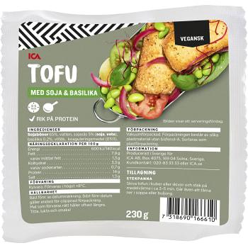 Tofu Soja Basilika 230g ICA Gott Liv