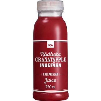 Juice Rödbeta granatäpple & ingefära Kallpressad 250ml ICA