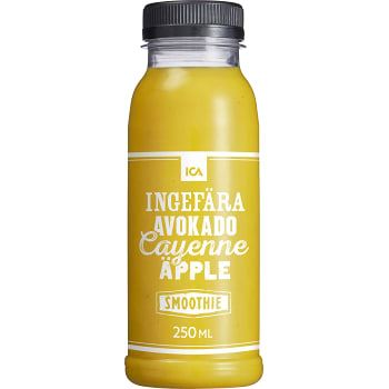 Smoothie Ingefära avokade cayenne & äpple 250ml ICA