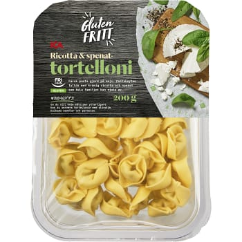 Pasta Tortelloni Ricotta & Spenat Glutenfri Färsk 200g ICA