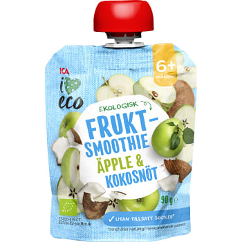 Smoothie Äpple & kokosnöt 6+mån 90g ICA I love eco