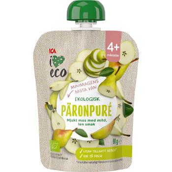Mellanmål Barn Päronpuré 4+mån 90g ICA I lov eco