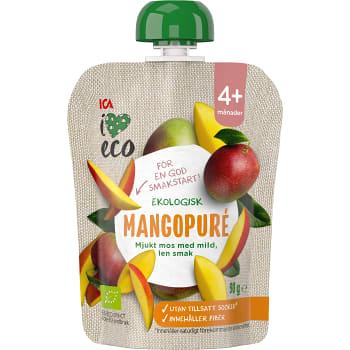 Mellanmål Barn Mangopuré 4+mån 90g ICA I love eco
