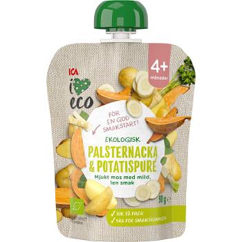 Smoothie Grönsaks- & fruktpuré Palsternacka & potatis 4+mån 90g ICA I love eco