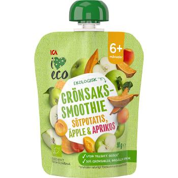 Smoothie Grönsaks-& fruktpuré 6+mån 90g ICA I love eco