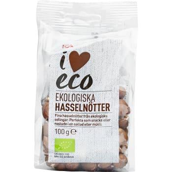 Hasselnötter naturel 100g ICA I love eco