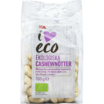 Cashewnötter naturell 100g ICA I love eco