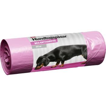 Hundbajspåse rosa 50-p ICA