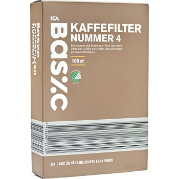 Kaffefilter nr 4 100-p ICA Basic